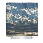 Sun Rays Through The Clouds   # Shower Curtain
