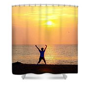 Sun Salutations Shower Curtain