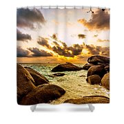 Sun Sand Sea And Rocks Shower Curtain