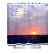 Sun Set Going Home On The Toll Road Shower Curtain