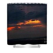 Sun Set On Cadillac Mountain Shower Curtain