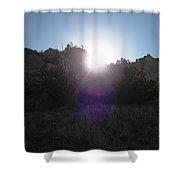 Sun Sets At Tent Rocks Shower Curtain