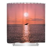 Sun Setting On Atlantus Shower Curtain
