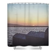 Sun Setting Over Wales Shower Curtain