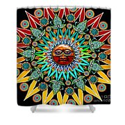 Sun Shaman Shower Curtain by Christopher Beikmann