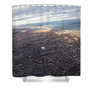 Sun Stained City Shower Curtain