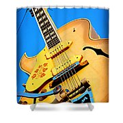 Sun Studio Guitar Shower Curtain