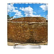 Sun Temple-1250 Ad In Mesa Verde National Park-colorado Shower Curtain