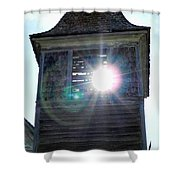 Sun Through The Steeple-by Cathy Anderson Shower Curtain
