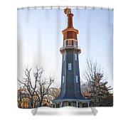 Sun Topped Dwight Windmill Shower Curtain