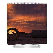 Sun Tunnel Sunset Shower Curtain