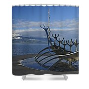 Sun Voyager Shower Curtain