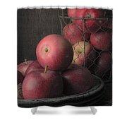 Sun Warmed Apples Still Life Shower Curtain