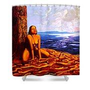 Sun Woman Shower Curtain