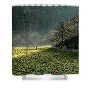 Sunbeams And Mist - Wolfscote Dale Shower Curtain