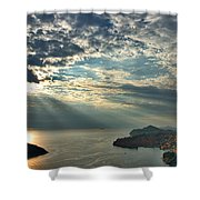 Sunbeams On Dubrovnik Shower Curtain