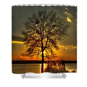 Sunblock A Sunset On Lake Oconee Shower Curtain
