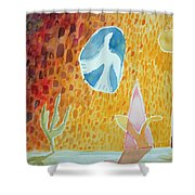 Sunburst, 1989 Wc On Paper Shower Curtain