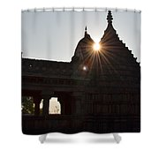 Sunburst At The Temple Of The 64 Yoginis Shower Curtain