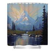 Sunburst Landscape Shower Curtain by Richard Faulkner