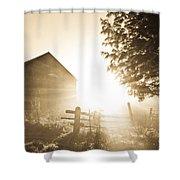 Sunburst On The Farm Shower Curtain