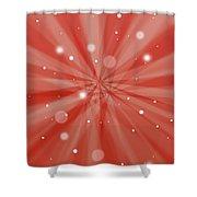 Sunburst Snow Red Shower Curtain