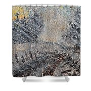 Sunday Morning Blizzard Shower Curtain