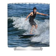 Sunday Morning Surfing Shower Curtain