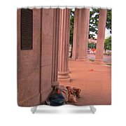Sunday Mourning At Denver Civic Centre Shower Curtain
