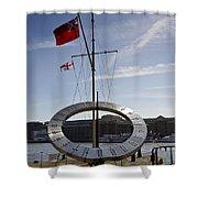 Sundial St Katherines Dock Shower Curtain