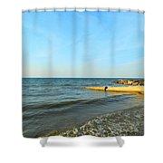 Sundown At Lake Erie  Shower Curtain