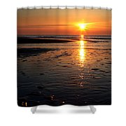Sundown At The North Sea Shower Curtain