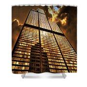 Sundown At Willis Sears Tower Shower Curtain
