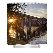 Sundown Bridge Shower Curtain