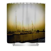 Sundown By The Lake Shower Curtain