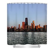 Sundown In The Chicago Canyons Shower Curtain
