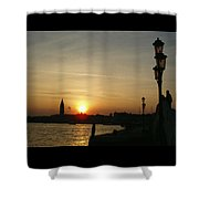 Sundown In Venice Shower Curtain