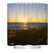 Sundown Jogging Shower Curtain