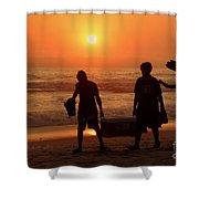 Ocean - Sundown Sunset Shower Curtain