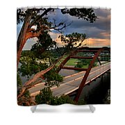 Sundown On Pennybacker 360 Shower Curtain