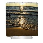 Sundown On The Beach Shower Curtain