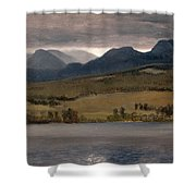 Sundown On The Lake.thought To Be Lake Tahoe Shower Curtain