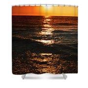 Sundown Reflections On Lake Michigan  01 Shower Curtain
