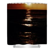 Sundown Reflections On Lake Michigan 02 Shower Curtain