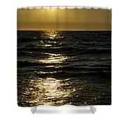Sundown Reflections On The Waves Shower Curtain