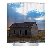 Sundown School 2 Shower Curtain