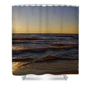 Sundown Scintillate On The Waves Shower Curtain