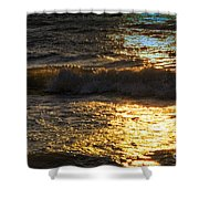 Sundown Shimmer On The Waves Shower Curtain