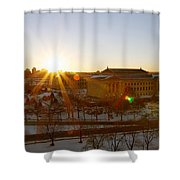 Sunflare At The Museum Shower Curtain
