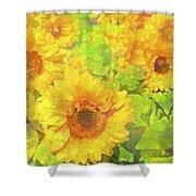 Sunflower 19 Shower Curtain